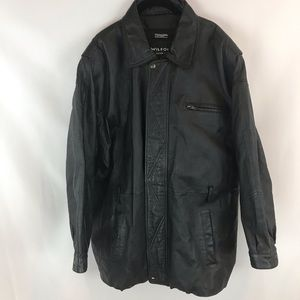 Men's Wilsons Size XL Leather Car Coat Thinsulate